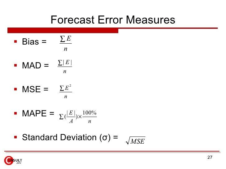 forecasting techniques essay