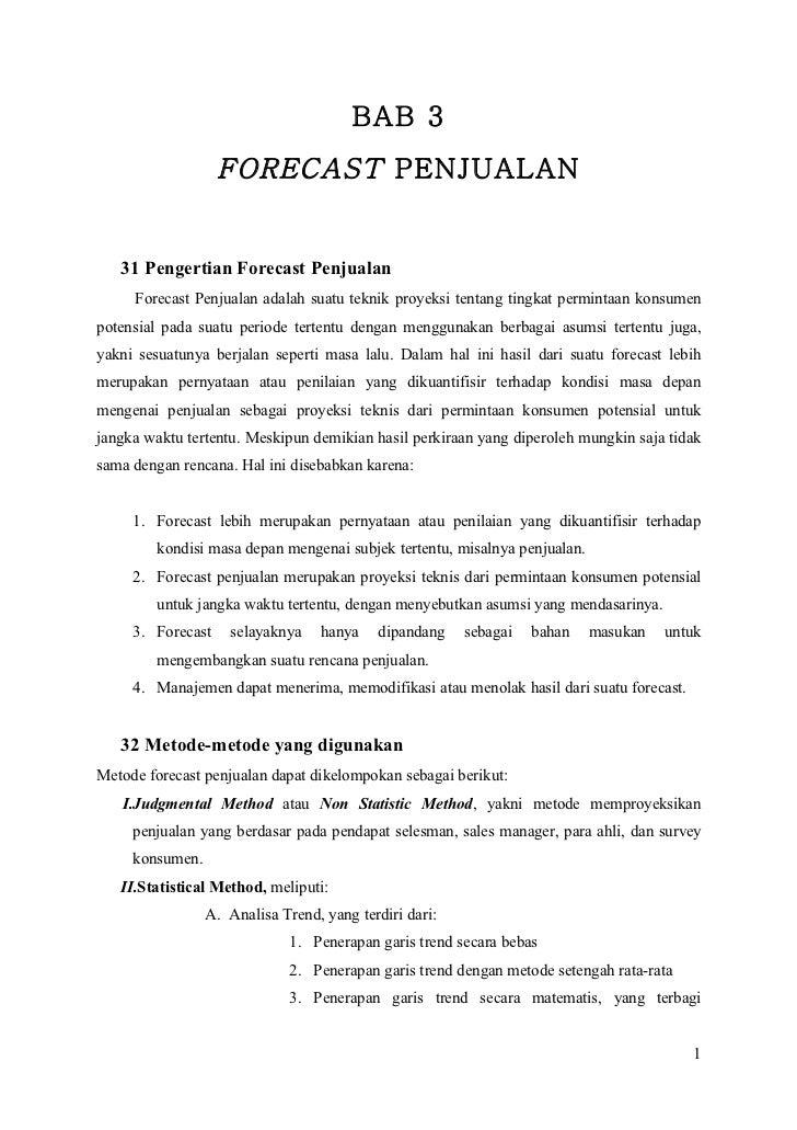Contoh Laporan Forecast Penjualan