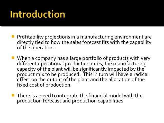 Probabilistic Forecast Analysis Of A Manufacturing Process Slide 3
