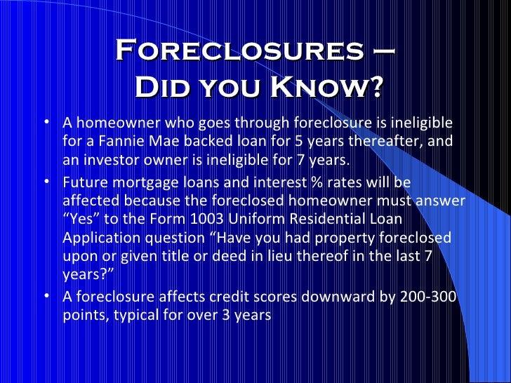 Foreclosure And Short Sale Seminar