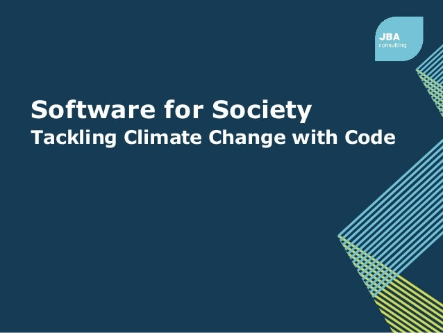 Software for Society Tackling Climate Change with Code
