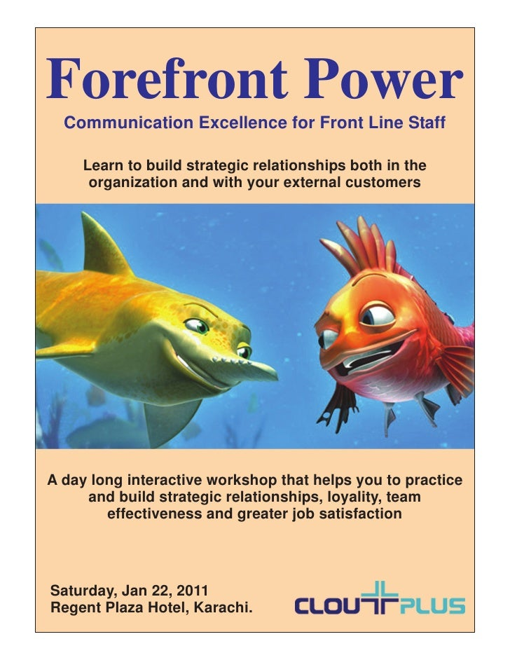 Forefront Power  Communication Excellence for Front Line Staff     Learn to build strategic relationships both in the     ...