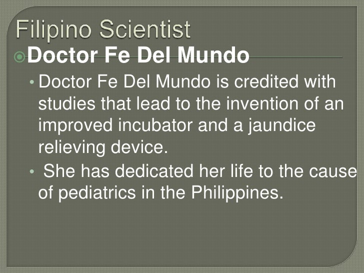 Who are the 10 most famous filipino scientists?