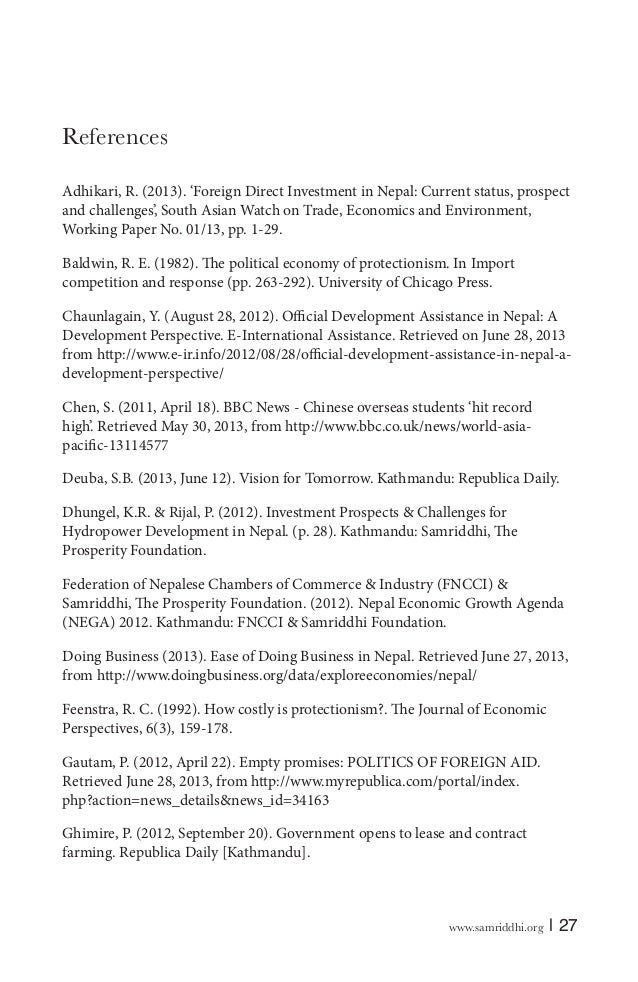 prospects of foreign direct investment in nepal kathmandu