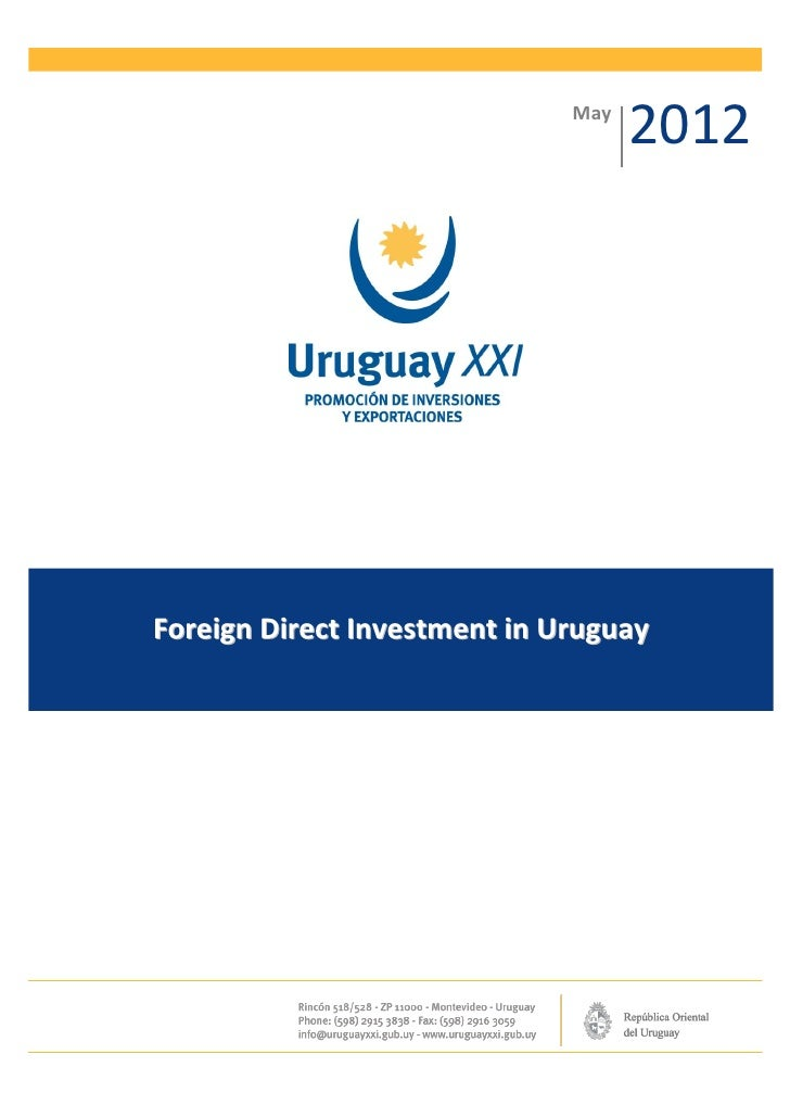 May                                    2012Foreign Direct Investment in Uruguay