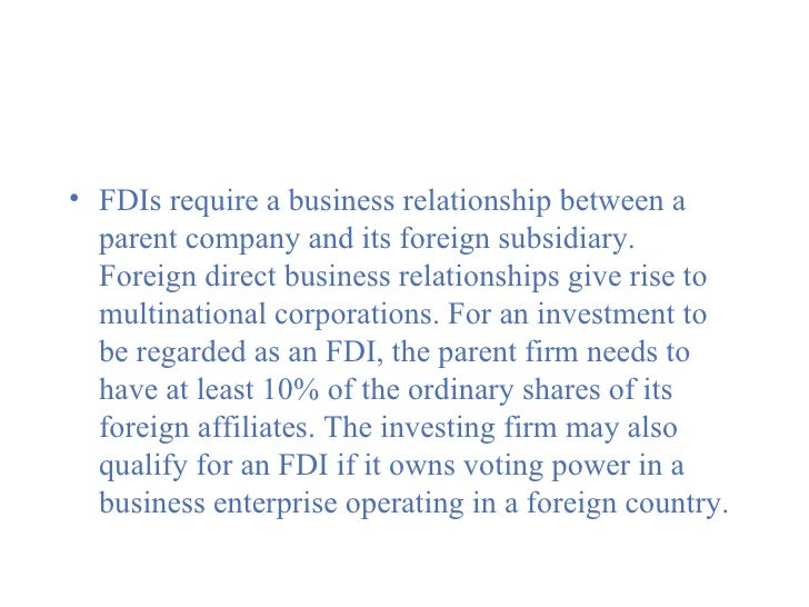 relationship between foreign direct investment and growth Abstract the relationship between foreign direct investment (fdi) and economic  growth in recipient economies remains one of the hottest.