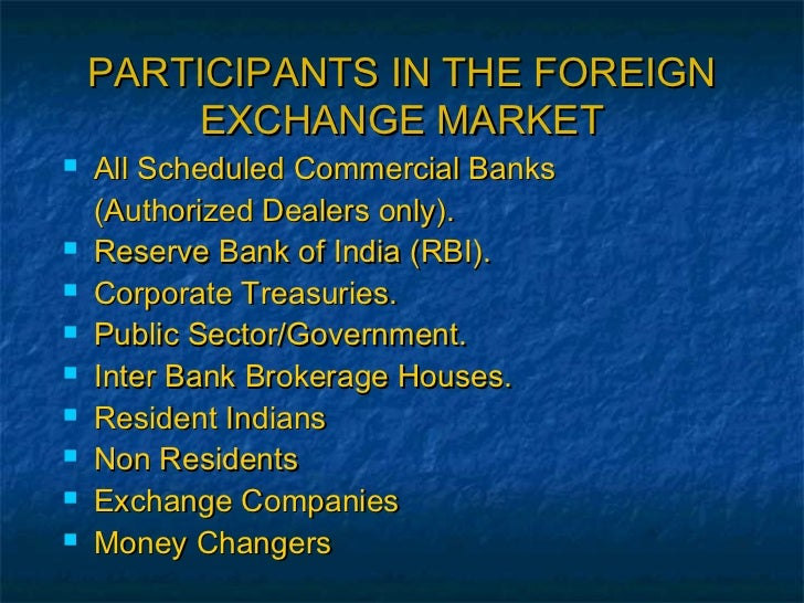 Foreign exchange dealers