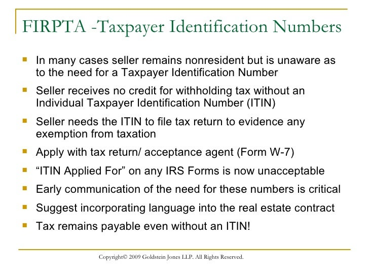 foreign persons owning  real estate Withholding Tax When The Seller Is A Non Resident