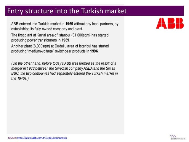market entry into turkey for lifeway Before entering the turkish market, us companies should consider their own resources, previous export or business experience abroad, and long-term business strategy for many companies, representation in turkey by a turkish agent, distributor, liaison office or partner will be key to their success.