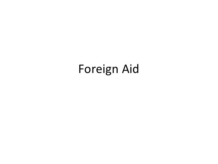 Foreign Aid<br />