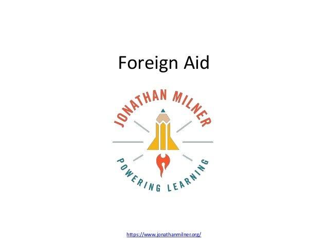 Foreign Aid https://www.jonathanmilner.org/