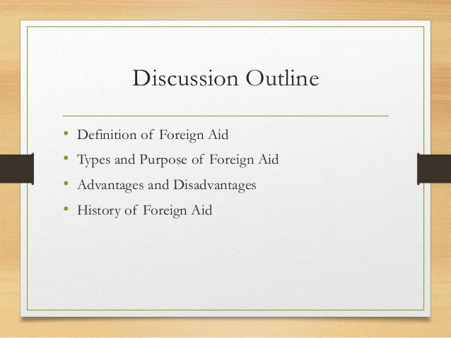 disadvantages of international aid