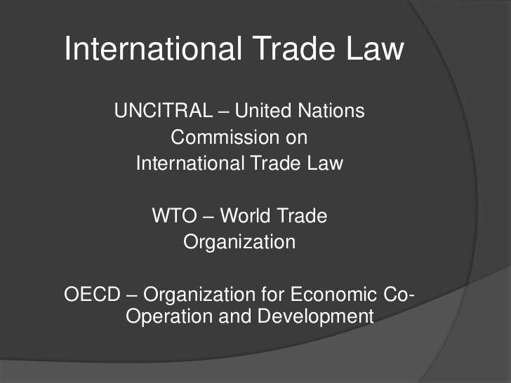 international trade law This guide features resources on international trade law.