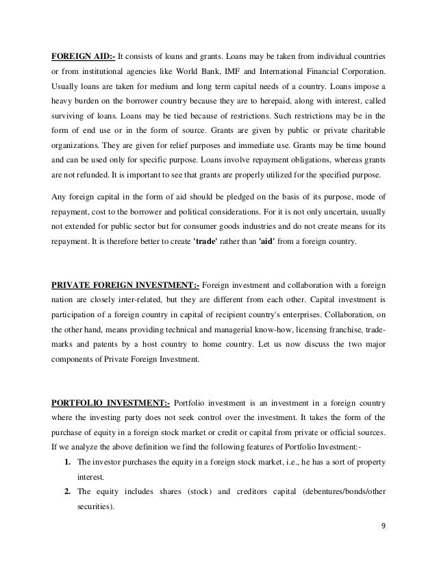 foreign capital  foreign portfolio investment 9