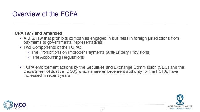 Foreign Corrupt Practices Act Fcpa Compliance Webinar