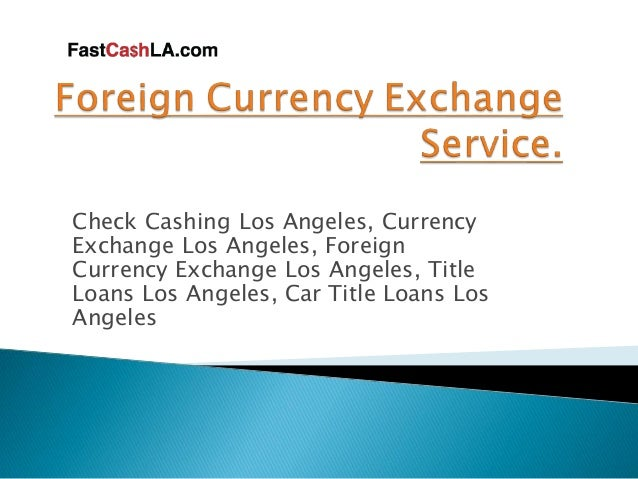 Forex trading los angeles