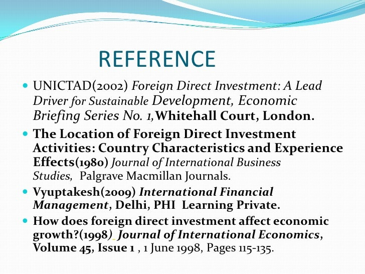foreign direct investment on host country economies Foreign direct investment may promote economic development by helping to  improve productivity growth and exports in the multinationals' host countries, the .