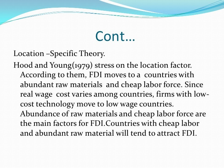 foreign direct investment fdi a potent Foreign direct investment (fdi) is a potent weapon of economic development,  especially in the current global context it enables a capital-poor country like.