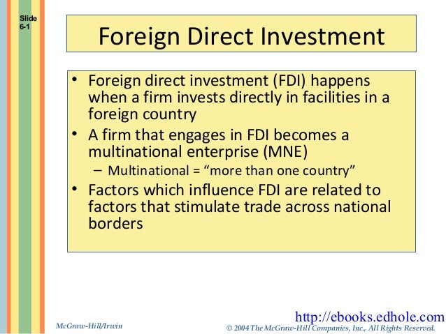 fdi related issues Us department of commerce issues notice of funding availability to support foreign direct investment attraction  and find solutions to issues related to the .