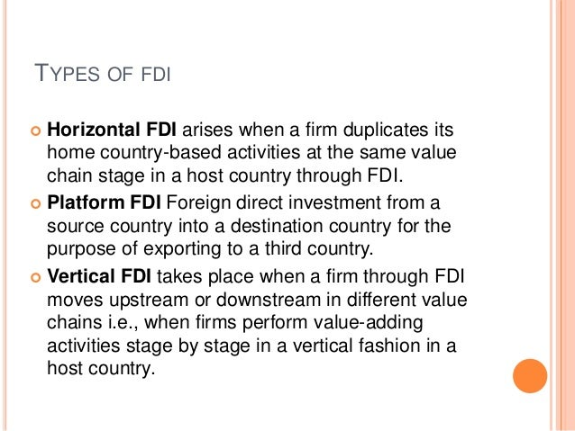 different forms of fdi Identify the factors that influence foreign direct investment (fdi)  there are  different kinds of fdi, two of which—greenfield and brownfield—are increasingly .