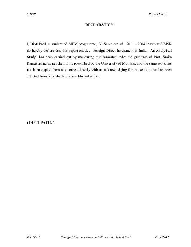 fdi declaration Form foreign direct investment- llp (i)  declaration to be filed by the authorised representative of the limited liability partnership .