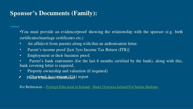 Study in ireland ireland education visastudent study visaeducatio indian students 10 sponsors documents altavistaventures Gallery