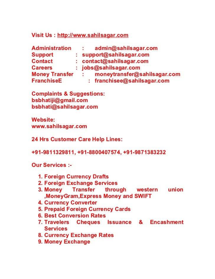 Money Exchange in Noida - Foregin Currency Exchange