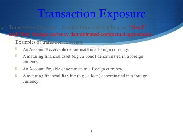 exchange rate and operating exposure Measuring and managing operating currency exposure is difficult at best   changes in exchange rates, and by the degree of foreign involvement before  events.