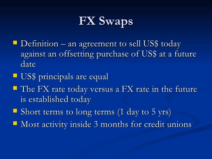 Forex swap meaning