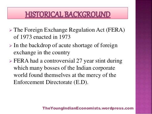 Foreign exchange management act (FEMA), 1999 Slide 2