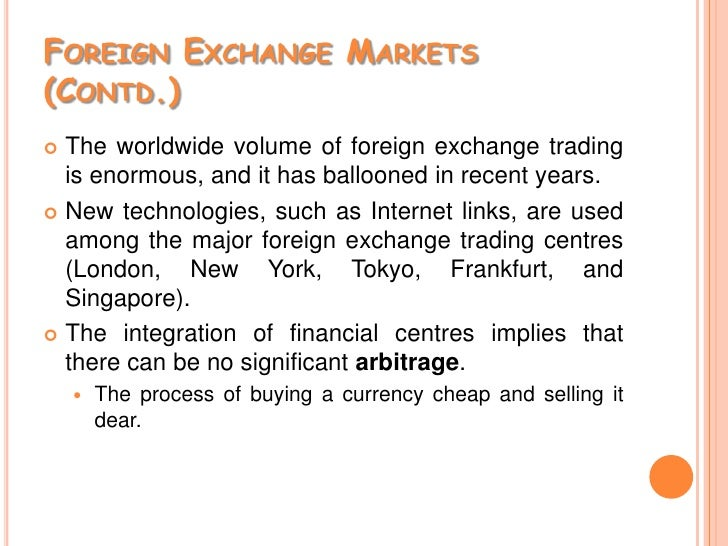Major foreign exchange markets
