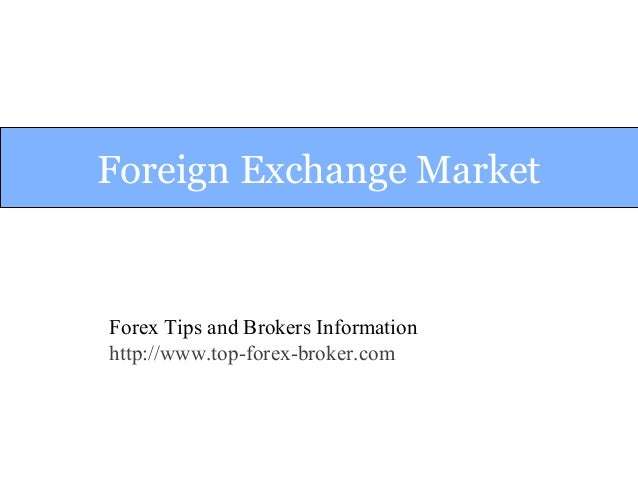 Foreign exchange information