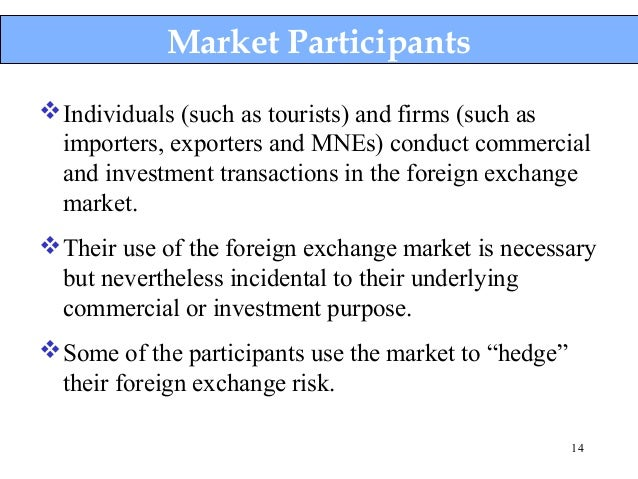 Need of foreign exchange market