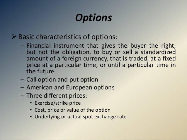 Foreign exchange market features