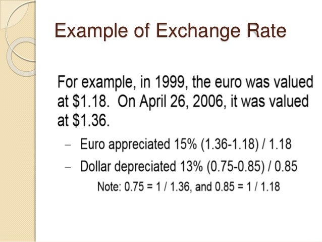Example of Exchange Rate