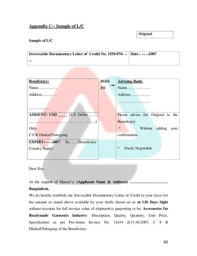 Foreign letter of credit format choice image letter format example foreign letter of credit format spiritdancerdesigns Images