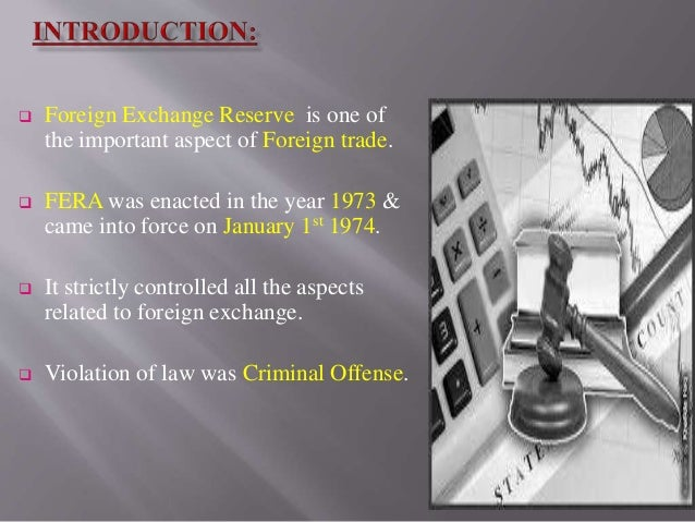 foreign exchange regulation act 1973 and The foreign exchange regulatin act, 1947 act no vii of 1947 [11 th march, 1947] an act to regulate certain payments, dealings in foreign exchange and whereas it is expedient in the economic and financial interests of pakistan to provide for the regulation of certain payments.