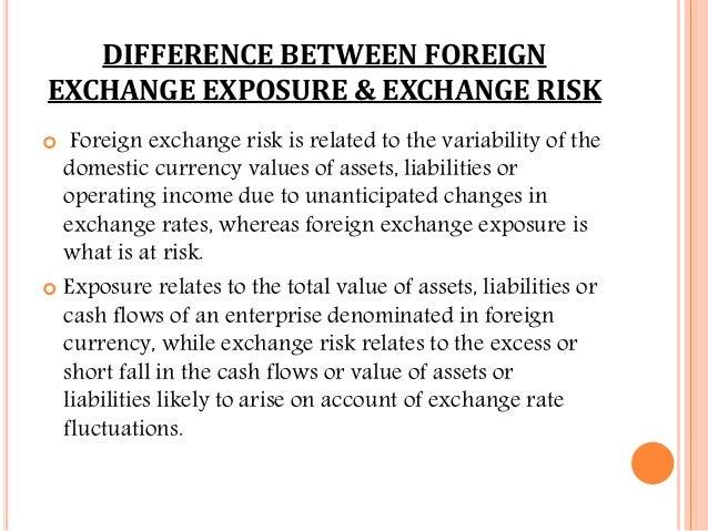 foreign exchange risk vs exposure