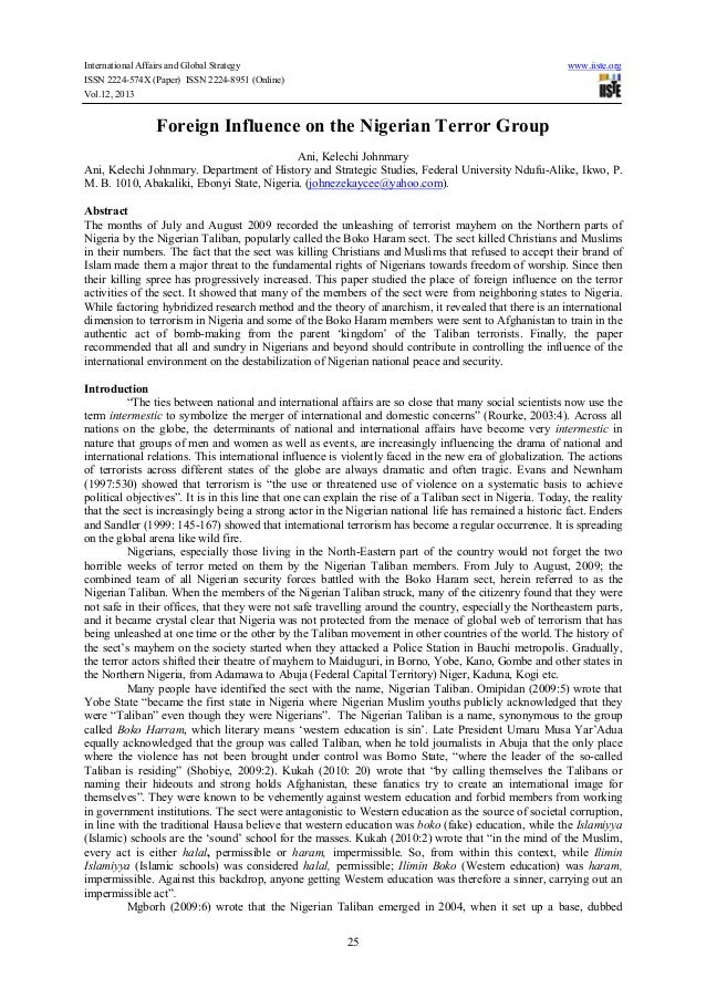 International Affairs and Global Strategy www.iiste.org ISSN 2224-574X (Paper) ISSN 2224-8951 (Online) Vol.12, 2013 25 For...