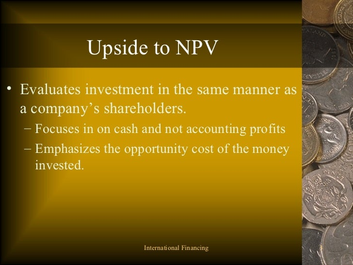 npv maximizing shareholders wealth (a) calculating the net present value of the investment project using a   financial objective of maximising shareholder wealth, while liquidity is.