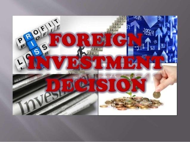 Overseas investment office decision summaries iteg investments