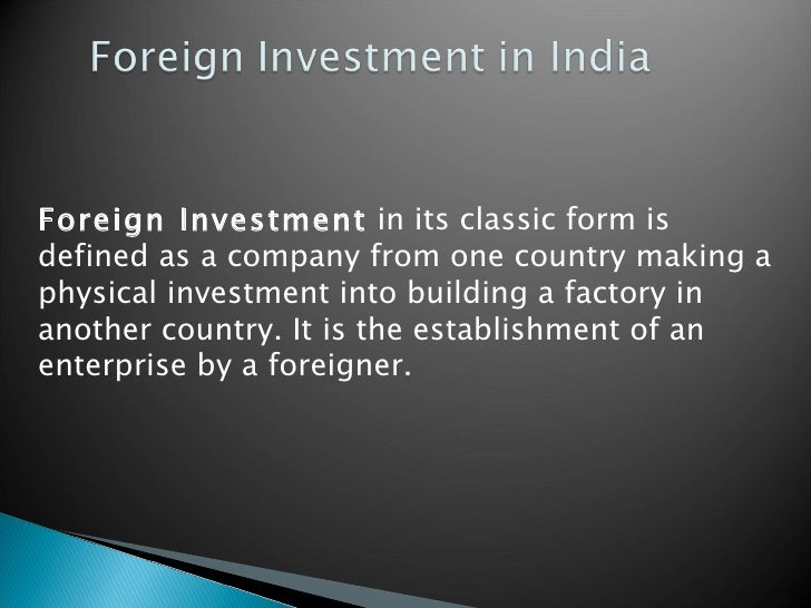foreign investment in india Financier worldwide is a leading, widely respected information source covering corporate finance and board-level business issues.
