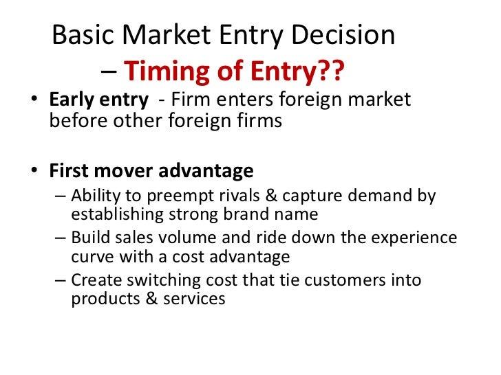 entry modes essay