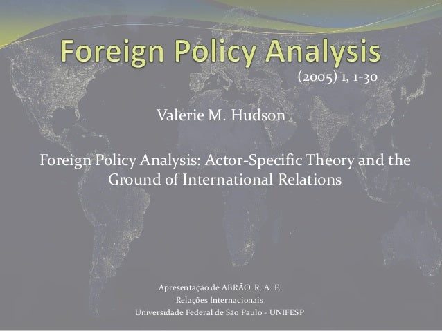foreign policy analysis compare and The relationship between the foreign policy of germany and france is a perfect example of convergence and divergence in the field of international relations.