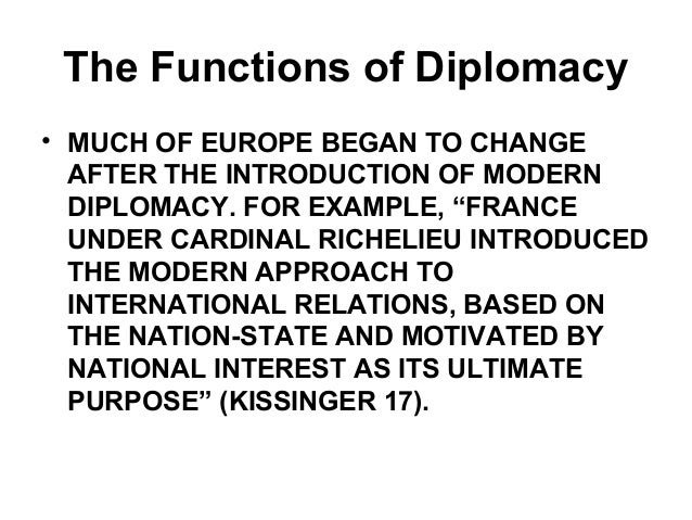 DIPLOMACY AND FOREIGN POLICY