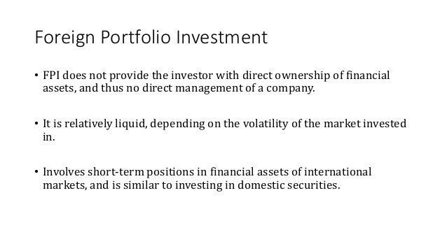 international portfolio investment definition