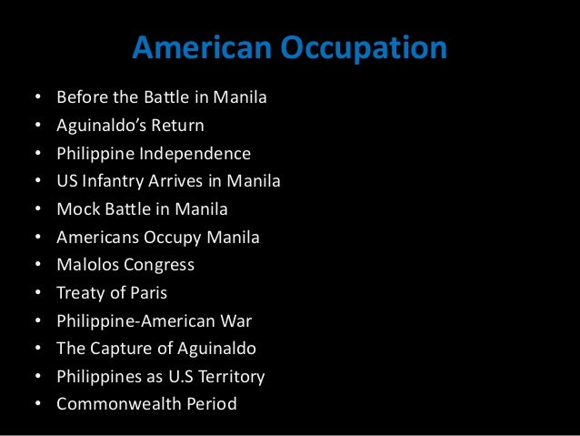 The american occupation and the philippine commonwealth.