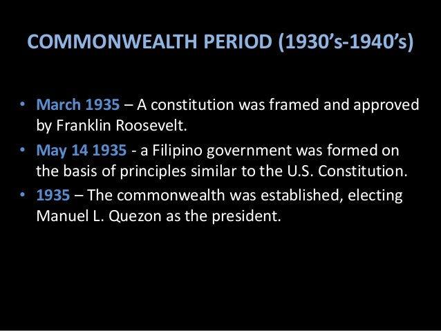 the commonwealth and the japanese period American japanese period - download as powerpoint presentation (ppt),  a 10 -year transitional period as the commonwealth of the philippines before the.