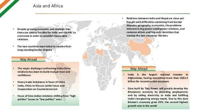 Asia and Africa • Despite growing economic and strategic ties, there are several hurdles for India and the PRC to overcome...