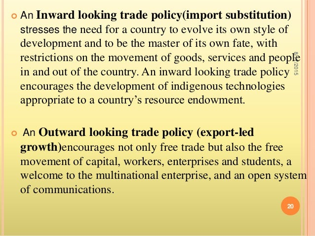 import substitution policy and export led Import substitution industrialization according to which countries specialize in producing goods that give them advantage and export those goods the term import substitution industrialization is a primary reference to the development economics policies of the 20th.